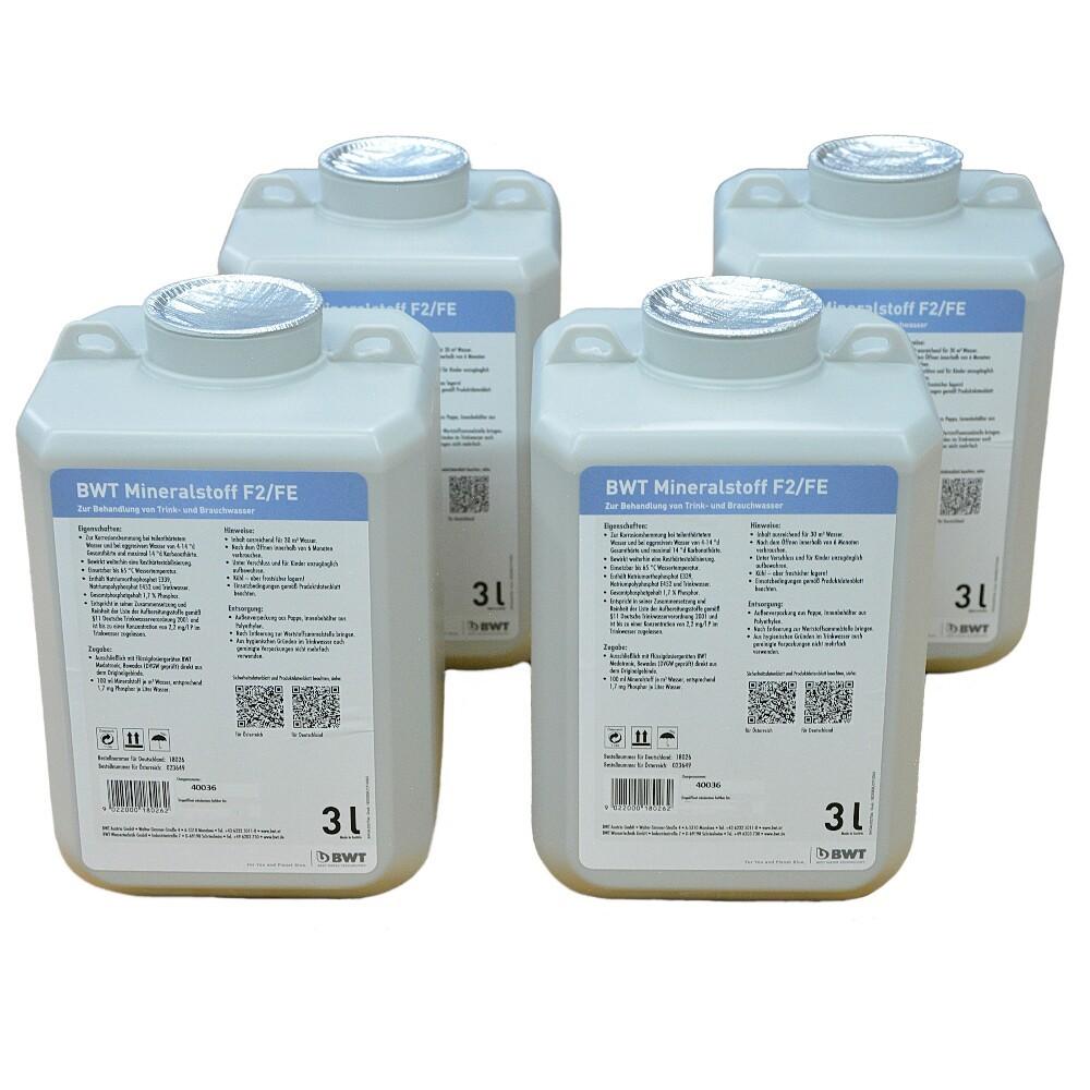 BWT Mineralstoff-Quantophos F2/FE, 4 x 3 Liter