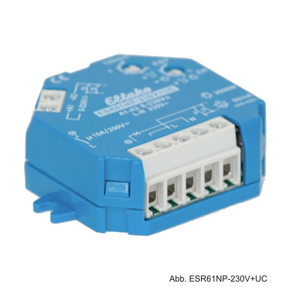 Eltako Stromstoßrelais ESR61NP-230V+UC, 1S, 10A/250V AC, 61100001
