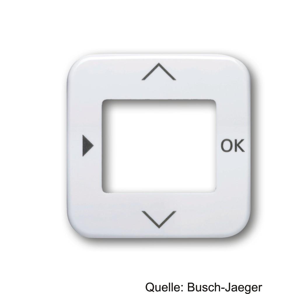 Busch-Jaeger Zentralscheibe für Timer-Bedienelem.,STB, RTR, alpinweiß 6435-214
