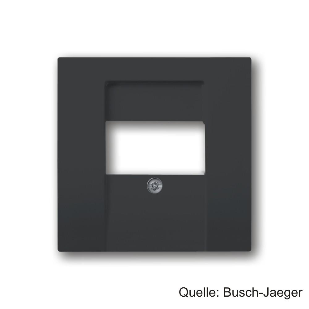 Busch-Jaeger  Zentralscheibe, für TAE und UAE/TAE-Einsätze, anthrazit, 1766-81