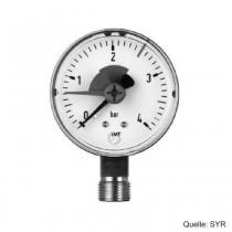 """SYR Manometer für Heizungsanlagen, G 3/8"""", 0-4 bar, D.63 mm, senkrecht"""