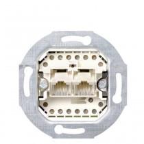 Gira UAE/IAE (ISDN)-Anschlussdose Cat. 3, 2fach, 2 x 8polig 8/8
