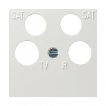 Gira System 55 Zentralplatte für Antennendose, 4fach, reinweiß glänzend 025903