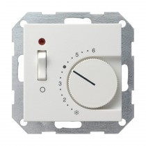 Gira System 55 Raumtemperatur-Regler 230V,  reinweiß glänzend 039203