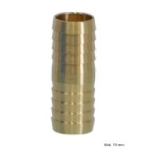 Messing Schlauchverbinder, schwere Ausführung, Anschl. Schlauchtülle 25 mm