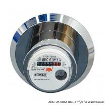 Allmess Unterputzwasserzähler UP-KOAX Qn 1,5 m³/h für Warmwasser, 0431212206