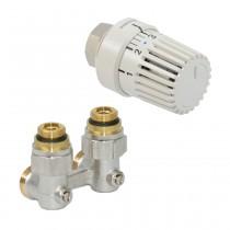 Oventrop HK-Ventil-Anschluss-Set für Purmo-Ventil-HK. Eckform