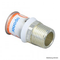 "Uponor S-Press PLUS MLC Übergangsnippel 20mm x 3/4"" AG"
