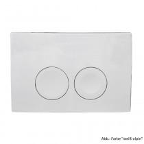 Geberit Betätigungsplatte Delta21, für 2-Mengen-Spülung, weiß-alpin, 115125111