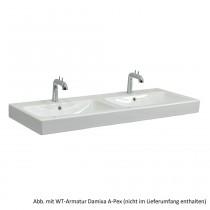 Geberit Doppelwaschtisch iCon 120 x 48,5 cm, weiß, 124120000