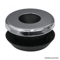 Urinal-Spülrohrverbinder für Locheinlauf mit Rosette, schwarz