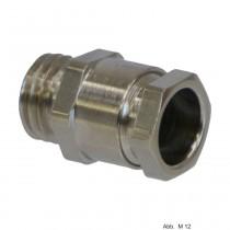 OBO Kabelverschraubung M12, Messing vernickelt 2083612