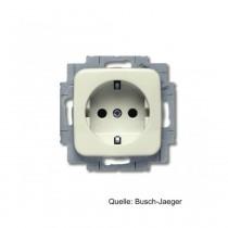 Busch-Jaeger SCHUKO Steckdosen-Einsatz, integr. erhöh. Berührungsschutz, weiß