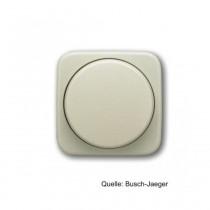 Busch-Jaeger Zentralscheibe mit Drehknopf, Bef.-Mutter, Glimmlampe, weiß