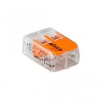 Wago Verbindungsklemme kompakt 2-Leiter, 0.14-4 mm², 100Stck, 221-412