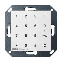 Gira System 55 Keyless In Codetastatur, reinweiß glänzend 260503