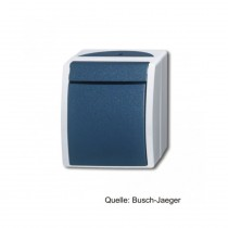 Busch-Jaeger Wipptaster, Schließer, 1polig, grau/blaugrün 2621 W-53