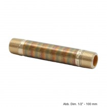 "Rotguss Langnippel, Serie 3530, 1/2"" x 70 mm"