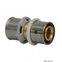 Viega Sanfix P-Übergangskupplung mit SC‑Contur, Modell 2115.9, Rotguss, 25 mm