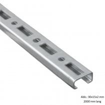 BIS RapidRail Profilschiene verzinkt, WM1, 30x15x2 mm, 2000 mm lang