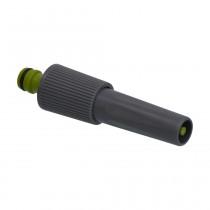 PVC-U Hydro-Fit Spritze mit einstellbarer Düse, Klickstecker, Grau