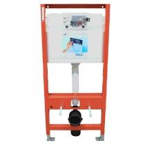 TECE WC-Modul TECEprofil mit TECE-Spülkasten, Betätigung vorne, Bauhöhe 1120mm