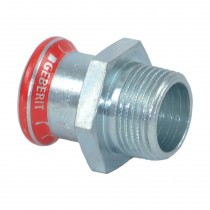 "Geberit Mapress C-Stahl Übergangsstück AG, 22mm x 3/4"""