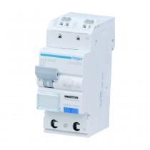 Hager FI-LS - Schalter ADS960D, 1P N 6kA C-10A 30mA Typ A QC, ADS960D