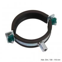 BIS Schwerlastschelle HD1501, M10 / M12, (BUP1000), 108 - 116 mm
