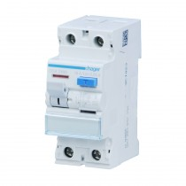 Hager FI-Schalter CDA216D, 2polig, 6kA 16A 30mA Typ A, CDA216D
