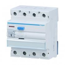 Hager FI-Schalter CDA440D, 4polig 6kA 40A 30mA Typ A, CDA440D