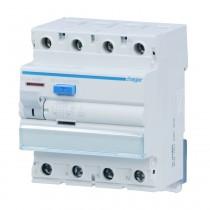 Hager FI-Schalter CDA463D, 4 polig 6kA 63A 30mA Typ A, CDA463D