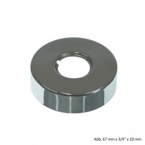"Design-Gewinderosette, 80 mm x 3/4"" x 30 mm, Messing verchromt"
