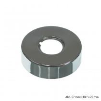 "Design-Gewinderosette, 67 mm x 3/4"" x 9 mm, Messing verchromt"
