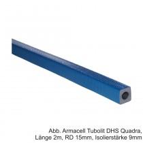 Armacell Tubolit DHS Quadra, Länge 2m, RD 15mm, Isolierstärke 9mm