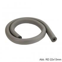 Flex. Isolierschlauch, Länge 2 m, ungeschlitzt, RD 18mm / Isolierstärke 10 mm