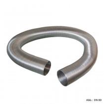 flexibles Aluminiumrohr gestaucht DN 80 ausziehbar auf ca.5m