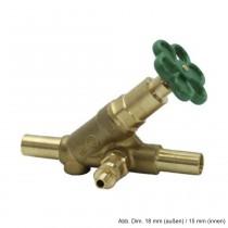 Multi-System Freistromventil aus Pressmessing m. E. DN 15 (da 18 mm di 15mm)