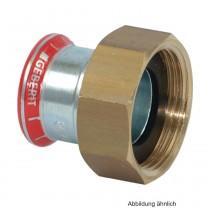 "Geberit Mapress C-Stahl Anschlussverschraubung flachdichtend, 15mm x 3/4"""