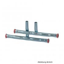 Geberit Mapress C-Stahl Heizkörperanschluss für Vor-und Rücklauf, 18 x 15mm