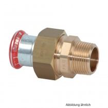 "Geberit Mapress C-Stahl Verschraubung m. AG flachdichtend, 22mm x 1"""