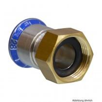 """Mapress Edelstahl Übergang mit Überwurfmutter Messing, 15mm x 1 1/4"""""""