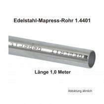 Geberit Mapress Edelstahl Systemrohr 1.4401, Länge 1,0m, 12 X 1,0 mm