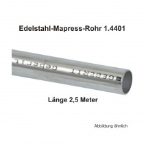 Geberit Mapress Edelstahl Systemrohr 1.4401, Länge 2,5m, 12 X 1,0 mm