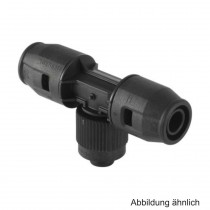 Geberit PushFit Übergang T-Stück mit MeplaFIX Adapter, 16 x MF20mm, PVDF