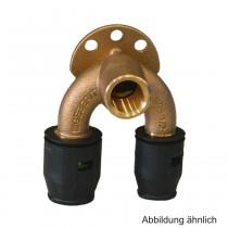 "Geberit PushFit Doppelanschlusswinkel 90°, 20mm x Rp1/2"" x 16mm, L=52 mm, Rotguss"