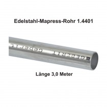 Geberit Mapress Edelstahl Systemrohr 1.4401, Länge 3,0m, 54 x 1,5 mm