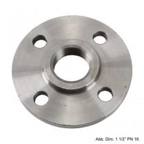 """Gewindeflansch aus Stahl, schwarz, PN 6, LK d=90mm, SZ = 4, DN 32 (1 1/4"""")"""