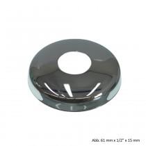 """Hahnrosette, 67 mm x 3/4"""" x 15 mm, Messing verchromt"""