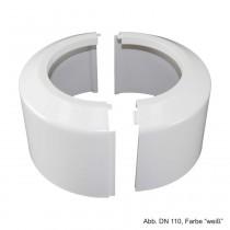 Klapprosette für Universal-WC-Anschlussstutzen und -bogen, DN 110, weiß